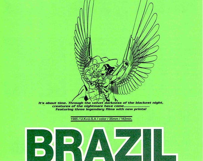 Brazil (B) | 80s Cult Movie, Terry Gilliam | 1997 Print | vintage Japanese chirashi film poster