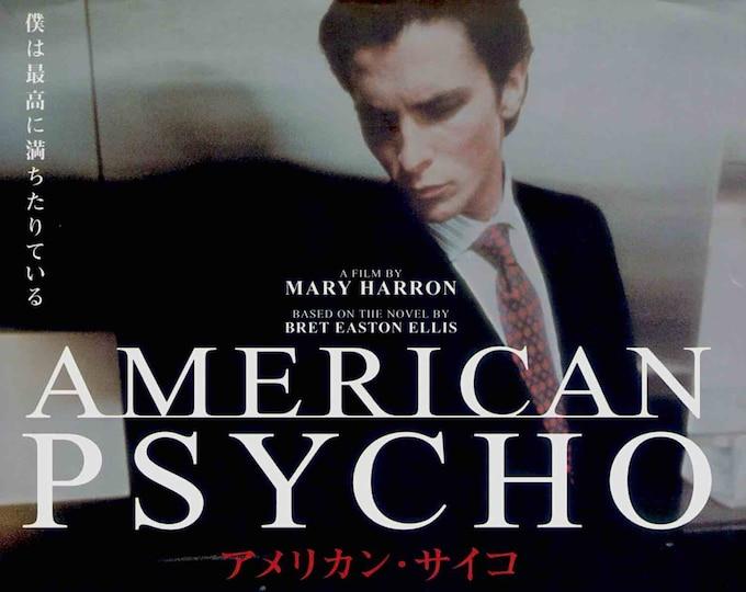 American Psycho | US Cult Classic, Christian Bale | 2001 original print | Japanese chirashi film poster