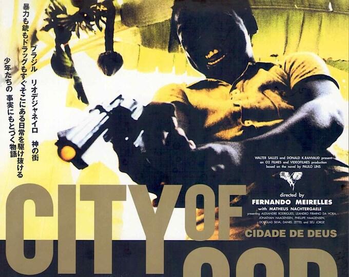 City of God | Brazil Cinema, Fernando Meirelles | 2003 original print | Japanese chirashi film poster