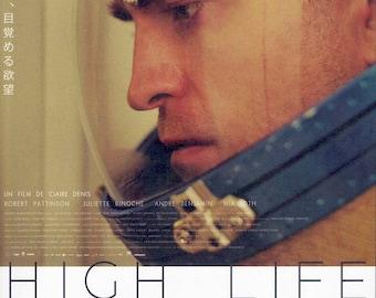 High Life | Claire Denis, Robert Pattinson, Juliette Binoche | 2019 original print | Japanese chirashi film poster