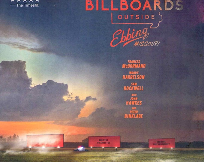 Three Billboards Outside Ebbing, Missouri (A) | Frances McDormand | 2018 original print | Japanese chirashi film poster