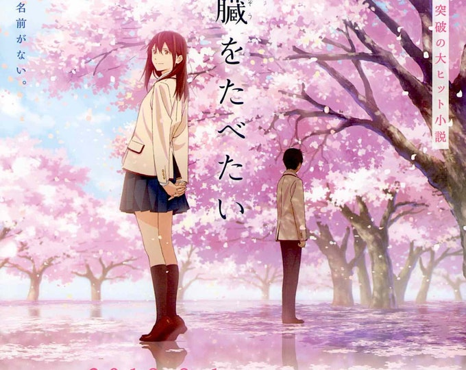 I Want to Eat Your Pancreas | Japan Anime | 2018 original print | Japanese chirashi film poster