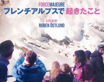 Force Majeure | European Cinema, Ruben Östlund | 2015 original print | Japanese chirashi film poster
