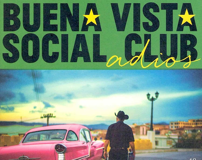 Buena Vista Social Club: Adios | Music documentary | 2018 original print | Japanese chirashi film poster