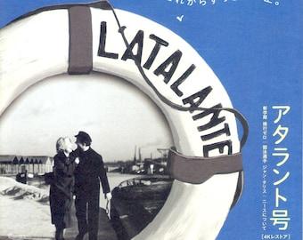 L'Atalante | 30s French Classic, Jean Vigo | 2018 print, gatefold | Japanese chirashi film poster