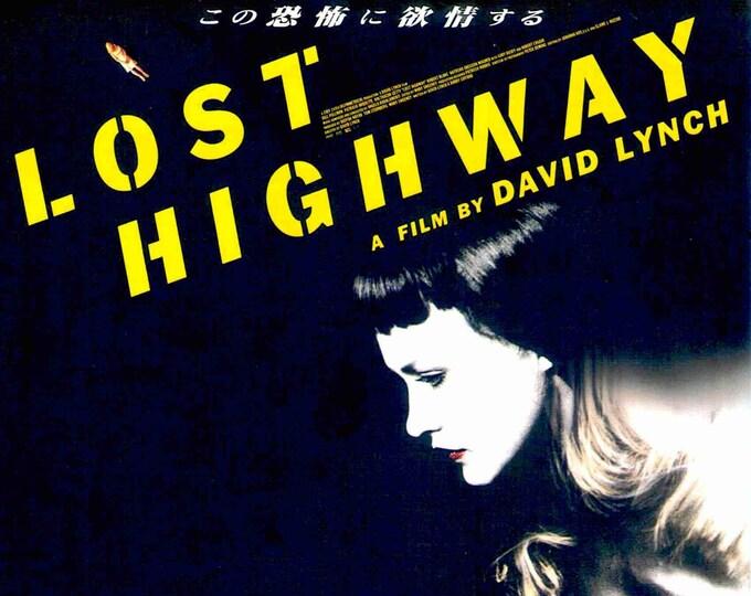 Lost Highway | 90s David Lynch, Patricia Arquette | 1997 original print | vintage Japanese chirashi film poster