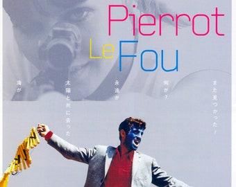 Pierrot le fou (B) | 60s French Cinema, Jean-Paul Belmondo, Anna Karina | 2016 print | Japanese chirashi film poster