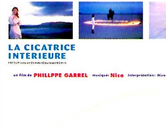 La Cicatrice interieur | 70s French Cinema, Nico, Philippe Garrel | 1998 print | vintage Japanese chirashi film poster