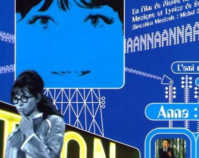 Anna (B) | 60s French Cinema, Anna Karina, Serge Gainsbourg | 1998 print | vintage Japanese chirashi film poster
