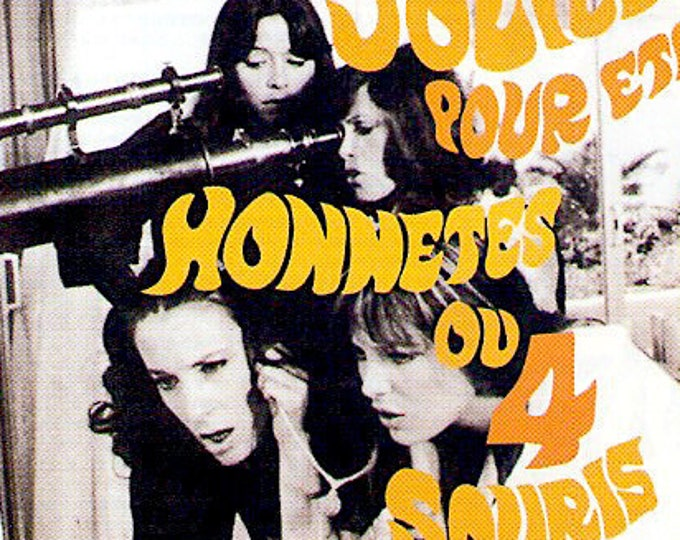 Trop Jolies pour être Honnêtes | 70s Jane Birkin + Gainsbourg | 1998 print | vintage Japanese chirashi film poster