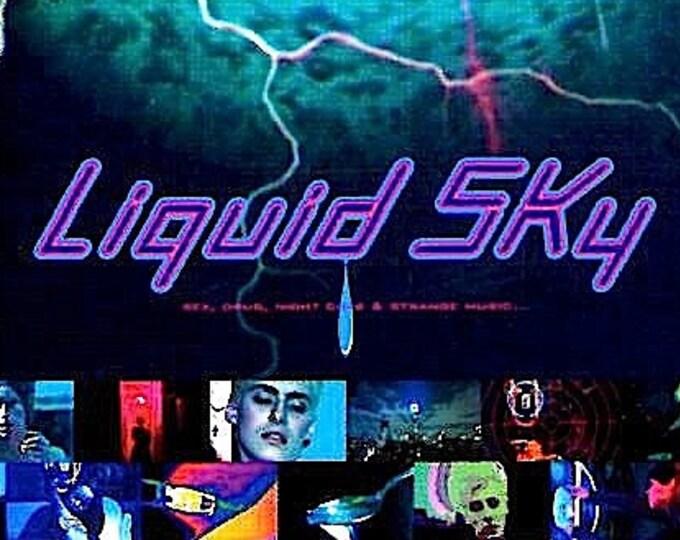 Liquid Sky   80s Cult Sci-fi, Slava Tsukerman   1997 print   vintage Japanese chirashi film poster