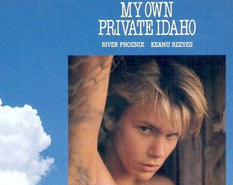 My Own Private Idaho | 90s Cult Classic, River Phoenix, Keanu Reeves | 1991 original print | vintage Japanese chirashi film poster