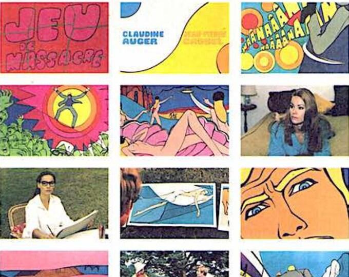 Jeu de massacre | 60s French Classic, Claudine Auger, Alain Jessua | 2001 print | Japanese chirashi film poster