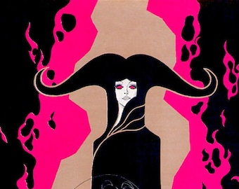 Belladonna of Sadness | 70s Tezuka Anime Classic | 1974 original print | vintage Japanese chirashi film poster