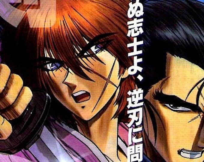 Rurouni Kenshin (A) | 90s Samurai Anime | 1997 original print | vintage Japanese chirashi film poster