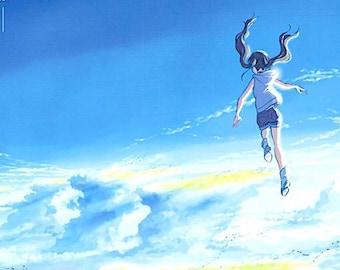 Weathering with You (A) | Japan Anime, Makoto Shinkai | 2019 original print | Japanese chirashi film poster