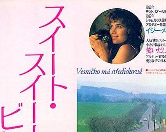 My Sweet Little Village | 80s Czech Cinema, Jirí Menzel | 1988 original print | vintage Japanese chirashi film poster