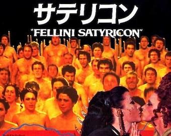 Fellini Satyricon | 60s Italian Classic, Federico Fellini | 1994 print | vintage Japanese chirashi film poster