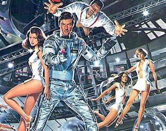Moonraker | 70s Roger Moore James Bond | 1979 original print | vintage Japanese chirashi film poster