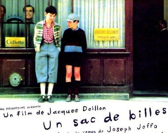 Un sac de billes | 70s French Cinema, Jacques Doillon | 2000 print | Japanese chirashi film poster