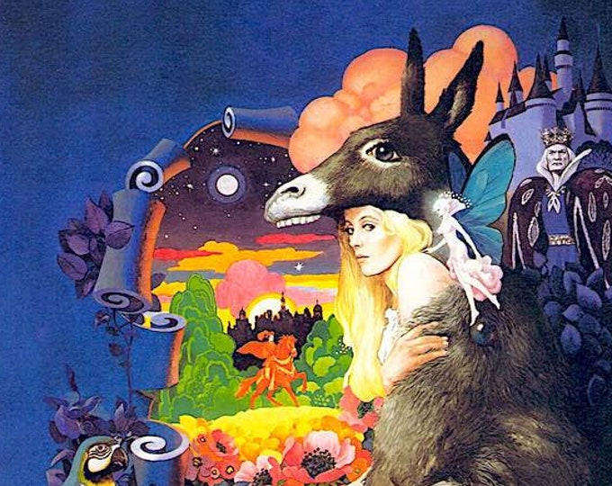 Donkey Skin (A) | 70s French Classic, Catherine Deneuve, Jacques Demy | 2005 print | Japanese chirashi film poster