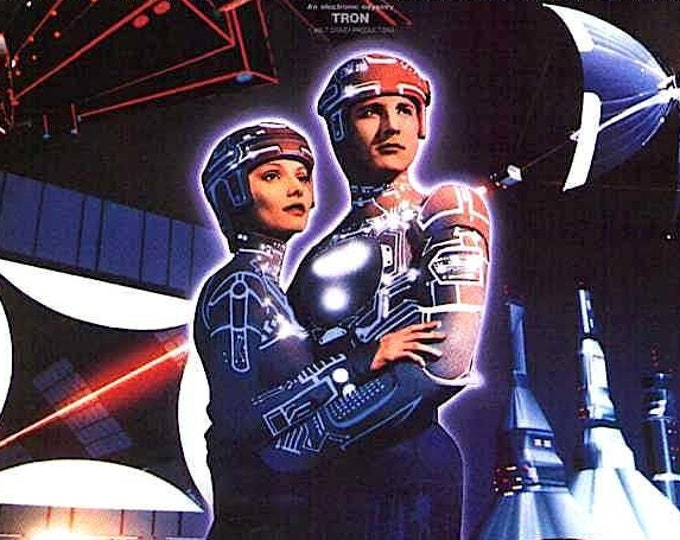 Tron | 80s Sci-fi Cult Classic | 1982 original print | vintage Japanese chirashi film poster