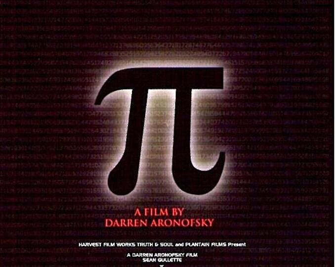 Pi | 90s Cult Classic, Darren Aronofsky | 1999 original print | vintage Japanese chirashi film poster
