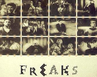 Freaks | 30s Cult Film, Tod Browning | 2005 print | Japanese chirashi film poster