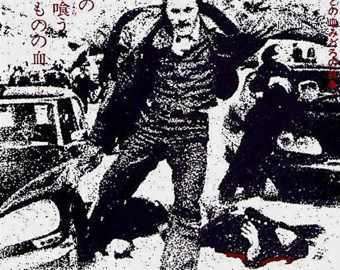 High Crime | 70s Italian Crime Classic, Franco Nero | 1974 original print | vintage Japanese chirashi film poster
