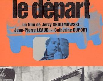 The Departure | 60s Belgian Cinema, Jean-Pierre Léaud, Jerzy Skolimowski | 1999 print | vintage Japanese chirashi film poster