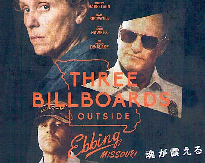 Three Billboards Outside Ebbing, Missouri (B) | Frances McDormand | 2018 original print | Japanese chirashi film poster