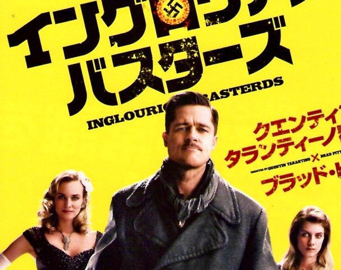 Inglourious Basterds (B) | Brad Pitt, Quentin Tarantino | 2009 original print | Japanese chirashi film poster