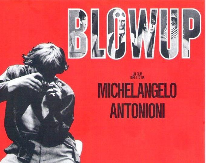 Blow Up (A) | 60s Iconic Classic, Michelangelo Antonioni | 1994 print | vintage Japanese chirashi film poster