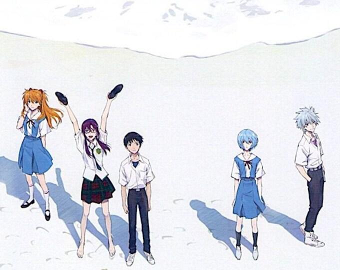 Evangelion: 3.0+1.0 (C)   Cult Anime Series, Anno Hideaki   2021 original print   Japanese chirashi film poster