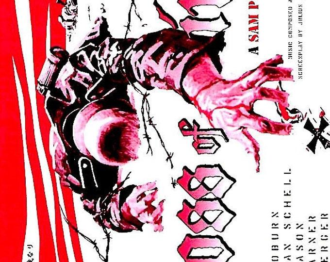 Cross Of Iron (B) | 70s Cult War Movie, Sam Peckinpah | 2000 print | Japanese chirashi film poster