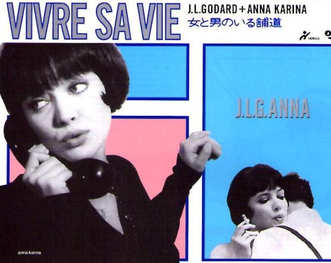 Vivre sa vie | 60s French Classic, Jean-Luc Godard, Anna Karina | 1994 print | vintage Japanese chirashi film poster