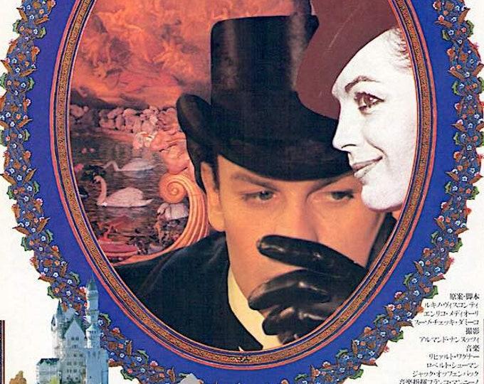 Ludwig (A) | 70s Italian Classic, Luchino Visconti, Helmut Berger, Romy Schneider | 1980 original print | Japanese chirashi film poster