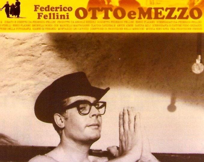 8 1/2 | 60s Italian Classic, Federico Fellini, Marcello Mastroianni | 2008 print | Japanese chirashi film poster