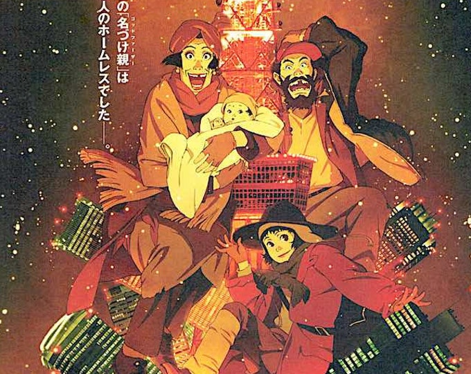 Tokyo Godfathers (A) | Anime Classic, Satoshi Kon | 2003 original print | Japanese chirashi film poster