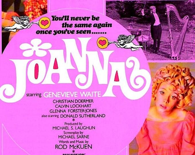Joanna | 60s British Cult Classic | Genevieve Waite, Donald Sutherland | 1993 print | vintage Japanese chirashi film poster
