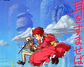 Whisper of the Heart (B) | Studio Ghibli Anime | 1995 original print | vintage Japanese chirashi film poster