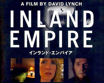 Inland Empire (B) | David Lynch, Laura Dern, Jeremy Irons |  2007 original print, foldout | Japanese chirashi film poster
