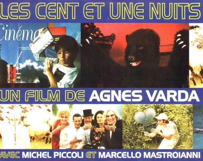 One Hundred And One Nights | 90s French Cinema, Agnes Varda | 1997 original print | vintage Japanese chirashi film poster