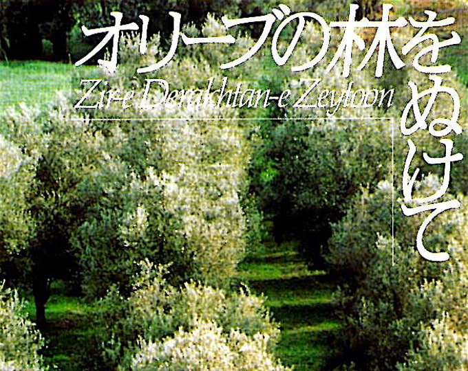 Through The Olive Trees   90s Iranian Cinema, Abbas Kiarostami   1994 original print   vintage Japanese chirashi film poster