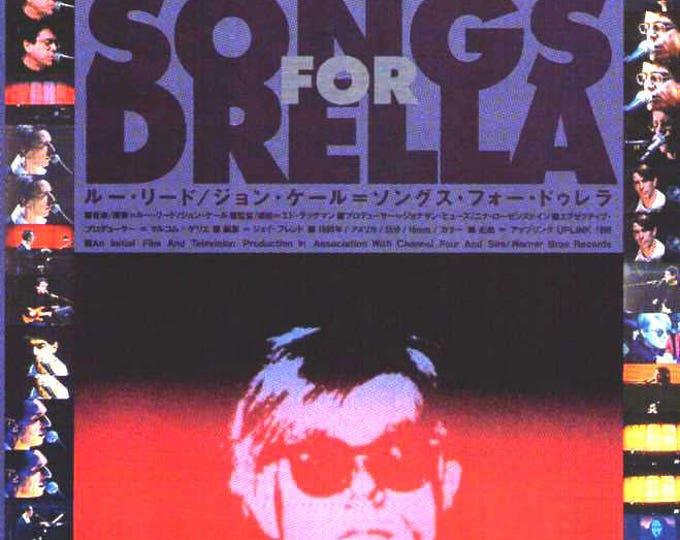 Songs For Drella / Life of Andy Warhol | Lou Reed, John Cale | 1991 original print | vintage Japanese chirashi film poster