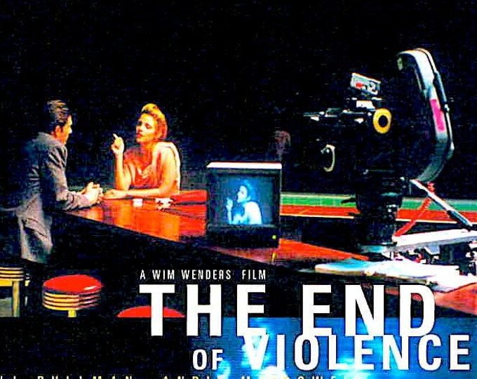 End Of Violence | 90s Classic, Bill Pullman, Wim Wenders | 1998 print | vintage Japanese chirashi film poster
