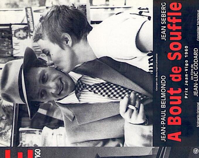 Breathless + L'Atalante | 60s French Cinema, Jean-Luc Godard, Jean Vigo | 1998 print | vintage Japanese chirashi film poster