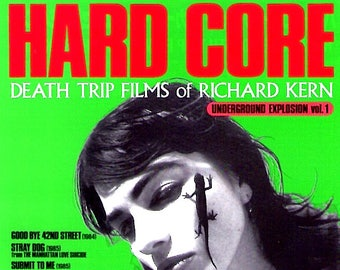 Hard Core: Death Trip Films of Richard Kern | 80s NY Underground, Lydia Lunch | 1996 print | vintage Japanese chirashi film poster