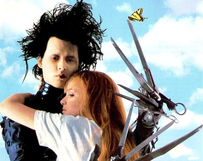 Edward Scissorhands | 90s Classic, Johnny Depp, Winona Ryder | 1991 original print | vintage Japanese chirashi film poster