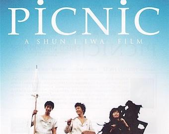 Picnic | 90s Japan Cinema, Shunji Iwai | 1996 original print | Japanese chirashi film poster